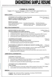 Best Resume Format For Fresher Software Engineers by Sample Resume For Engineering Freshers