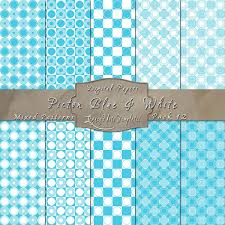 Mixed Patterns by Picton Blue U0026 White Scrapbook Pattern Paper Pack