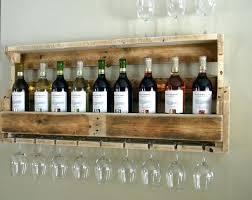 Wine Glass Wall Decor Rustic Wall Wine Rack U2013 Abce Us