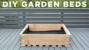 diy garden beds how to make raised garden planters for a deck
