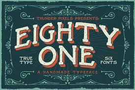 20 old fonts for creating vintage sign art creative