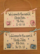 baby plaques handmade baby decorative plaques signs ebay