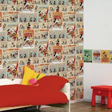 minnie mickey mouse wall decorations graham brown mickey vintage episode multi coloured wallpaper