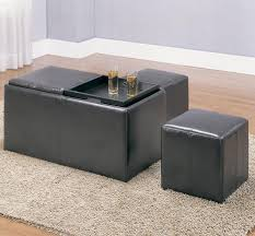 Ottoman With Storage Awesome Storage Ottoman With Tray Ashley Home Decor