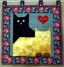 theme quilts quilts with cats on them quilts cats theme quilt pattern sew