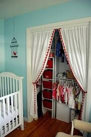 Curtains Closet Doors Sheer Curtain Instead Of A Closet Door No More Pinched Fingers