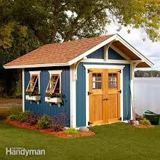 How To Build A Shed Against House by Shed Plans Storage Shed Plans The Family Handyman