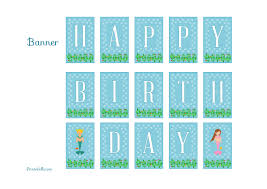 thanksgiving day banners free mermaid birthday party printables from printabelle mermaid
