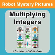multiplying integers color by number mystery pictures by whooperswan