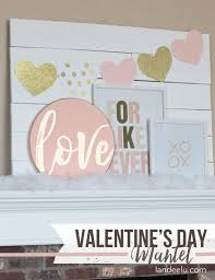 Gold Valentines Day Decor by Pink And Gold Valentine U0027s Day Mantel Landeelu Com