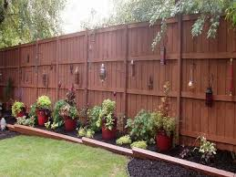 Privacy Fence Ideas For Backyard Awesome Backyard Fence Decorating Ideas Architecture Nice