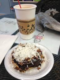 my german chocolate cake creation and coffee with caramel