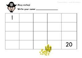 number 1 20 worksheets pirate theme no prep math morning work