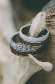 wooden wedding ring sets the raptor matching set of antler wood wedding bands