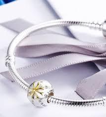 european pandora bracelet images Sterling 925 silver charm the golden snow flake bead png