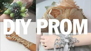 prom wrist corsage ideas best of diy prom threadbanger