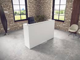 nitech office reception desk with built in lights rivage by buronomic