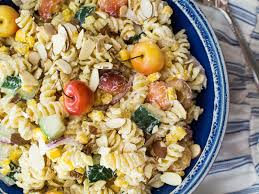 boursin cuisine light meatless monday boursin pasta salad with cherries corn and