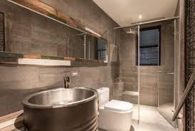 Industrial Bathroom   Exposed Bricks Bathroom Design Ideas - Industrial bathroom design