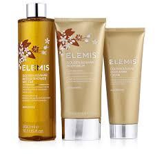 elemis beauty qvc uk elemis 3 piece golden azahar bath body collection 228394