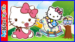 hello kitty fun day coloring book pages speed coloring kids