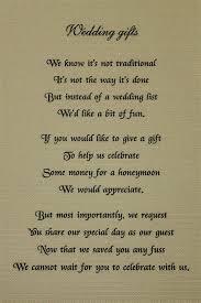 wedding gift money poem poems for wedding invitations asking for money for honeymoon