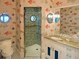 Tropical Bathroom Decor by Tropical Fish Bathroom Decor With Glass Door Shower And Sink Also