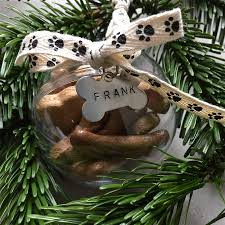dog treat personalised christmas bauble christmas baubles