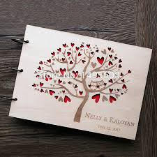 wedding guest book owl wedding guest book rustic guest book heart tree wedding