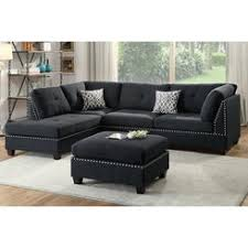 Black Sectional Sofa With Chaise Black Microfiber Sectional Sofa