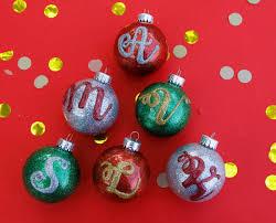 ornaments monogram ornaments glitter