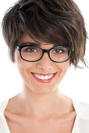 short hairstyles with glasses and bangs short haircuts with bangs side swept choppy straight across