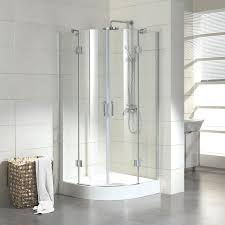 bathroom mesmerizing glass white corner shower stall with