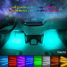 music led strip lights car led strip lights 4pcs 72 led rgb music app bluetooth controller