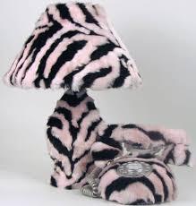 pink u0026 black zebra print lamp u0026 phone set cutiepie sets