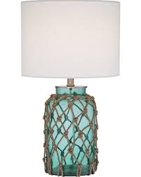 Rope Table L Amazing Deal Crosby Blue Green Bottle With Rope Glass Table L