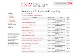 how to do an online class registration procedures unlv continuing education