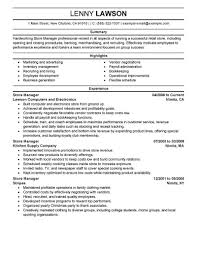 retail manager resume template best manager resume exle livecareer