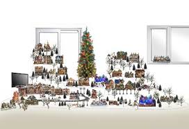 design staging planning and layout christmas village displays