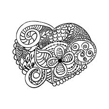 zendoodle heart shape coloring books valentine