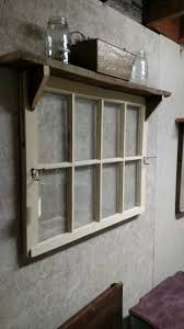 vintage window shutters repurpose tip junkie 8 pane window with hooks and shelf furniture and decor