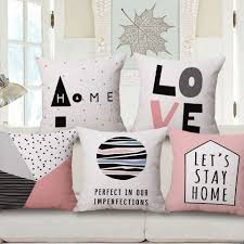Black Sofa Pillows by Pink And Black Throw Pillows With Sayings Love Home Letter