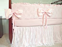 baby bedding crib bedding lace and pink satin