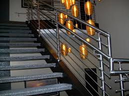 Contemporary Railings For Stairs by Futuristic Stainless Steel Stair Railing For Staircase With Grey