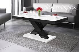 Wohnzimmer Tisch Design Couchtisch H 888 Weiß Schwarz Hochglanz Highgloss Tisch