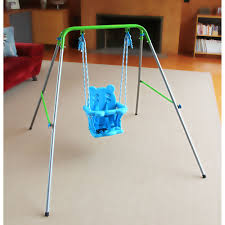 Baby Electric Swing Chair Sportspower Indoor Outdoor My First Toddler Swing Walmart Com