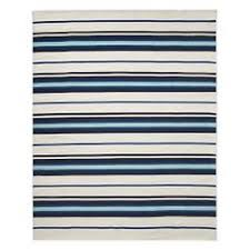 williams and sonoma black friday stylehaven striped blue ivory indoor outdoor area rug 8 u00276x13