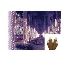 2 x 8 warm white led net style tree trunk wrap lights
