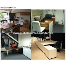 China Cheap And Modern 2400mm Mfc Wood Reception Desk On Global