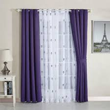 Plum Blackout Curtains Purple Tier Curtains Number Of Pieces More Than 2 Sears